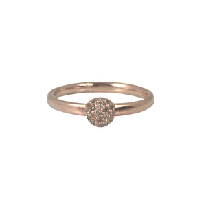 ROSE GOLD TAL MINI DIAMOND BALL RING