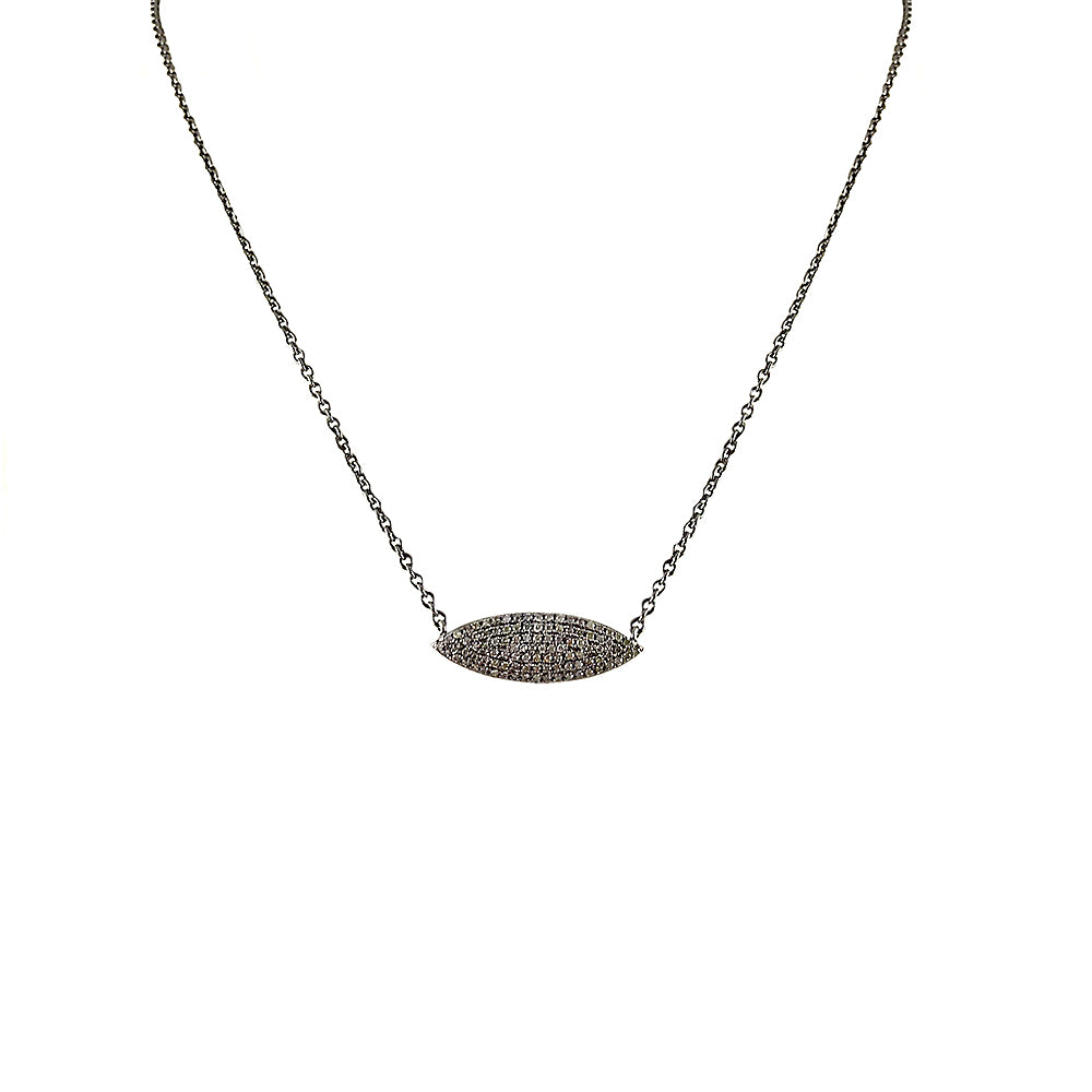 BLACK RHODIUM ROJ DIAMOND NECKLACE