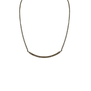 BLACK RHODIUM SAJJIT DIAMOND BAR NECKLACE