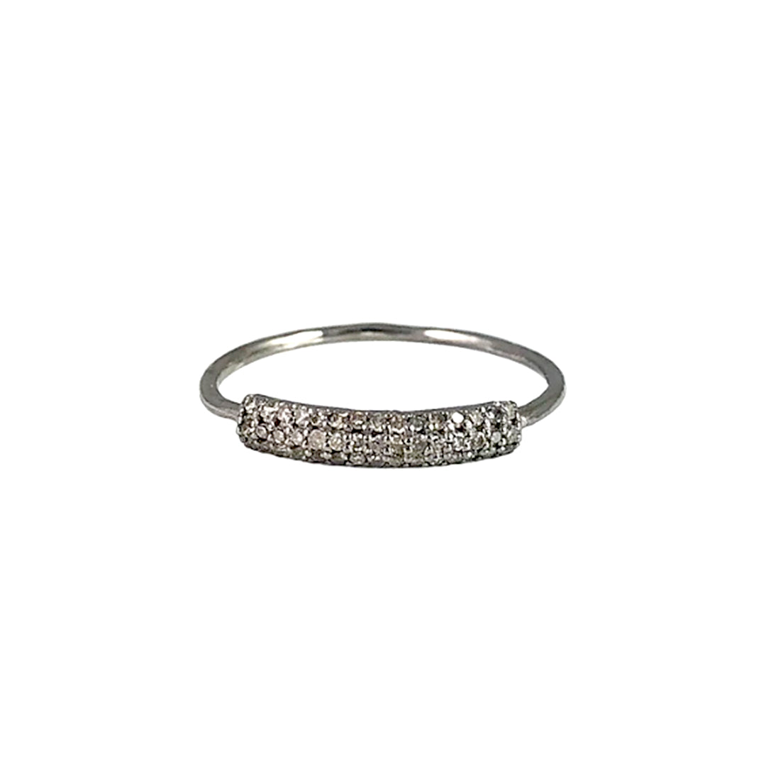 BLACK RHODIUM MANDI DIAMOND THIN BAND RING