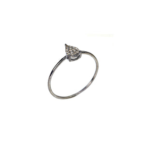 BLACK RHODIUM MANDI DIAMOND PEAR SHAPED BAND RING
