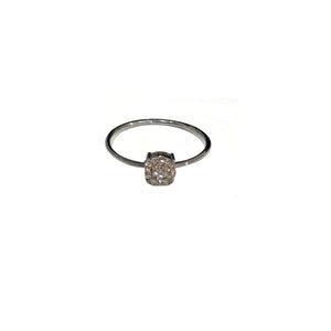 BLACK RHODIUM MANDI DIAMOND ROUND BAND RING