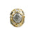 GOLD PAVIA COIN & CRYSTAL RING