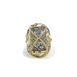 GOLD SIENA LARGE PYRAMID RING