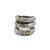 VINTAGE SILVER TUSCANY 3 ROW COIN RING