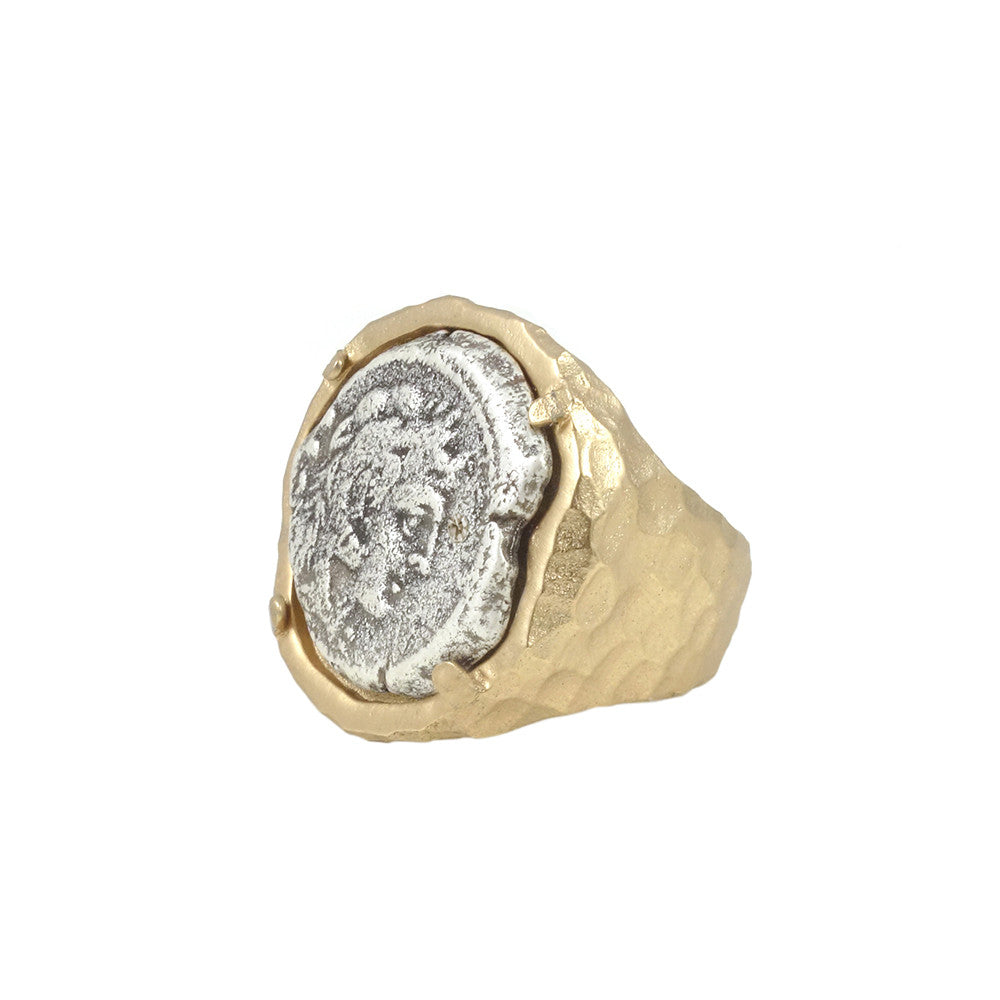 GOLD FIRA FRAMED COIN RING