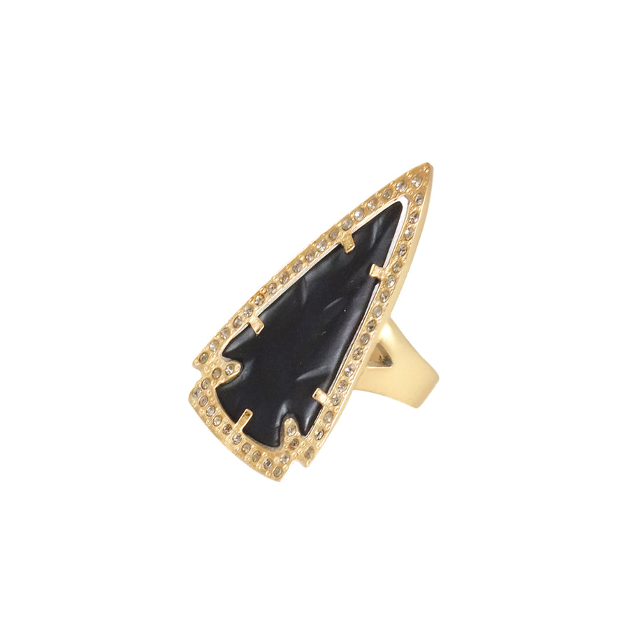 MEDIUM GOLD & BLACK DEMETER RING