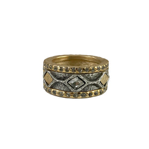 GOLD SURAT COIN & BLACK DIAMOND RING