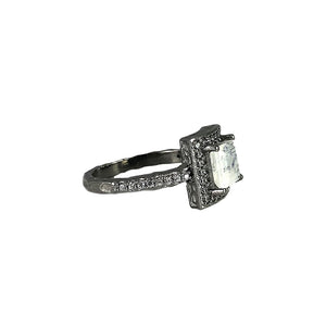 GUNMETAL MOONSTONE BAIRI SQUARE RING