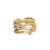 GOLD ESSLING BLACK DIAMOND 4 ROW RING