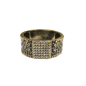 VINTAGE GOLD ARTÍS PAVÉ SQUARE BAND RING