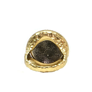 GOLD MINI FISHNET RING