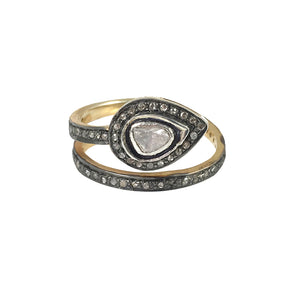 VERMEIL SIRSA DIAMOND SNAKE RING