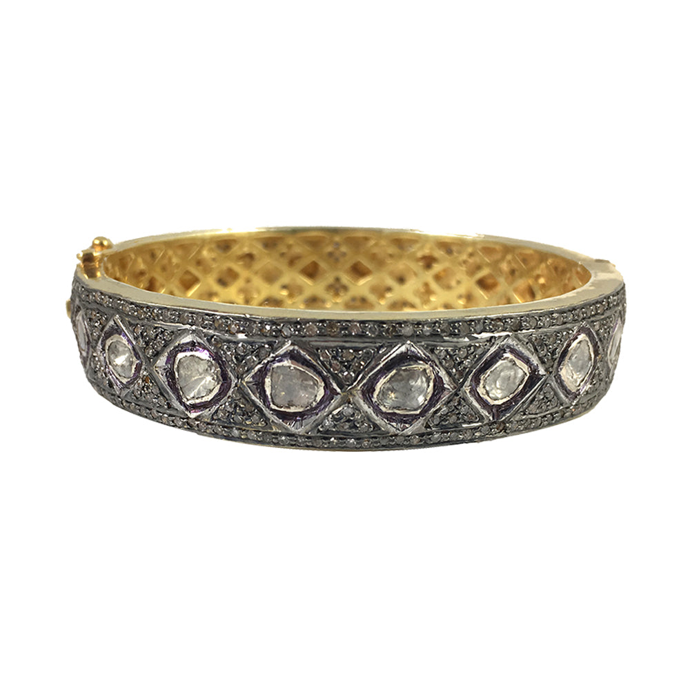 VERMEIL DEO DIAMOND WIDE BANGLE