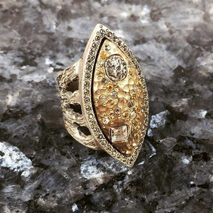 GOLD MARCHESE RING