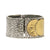 VINTAGE SILVER FRAME GOLD REPUBLIQUE COIN BANGLE