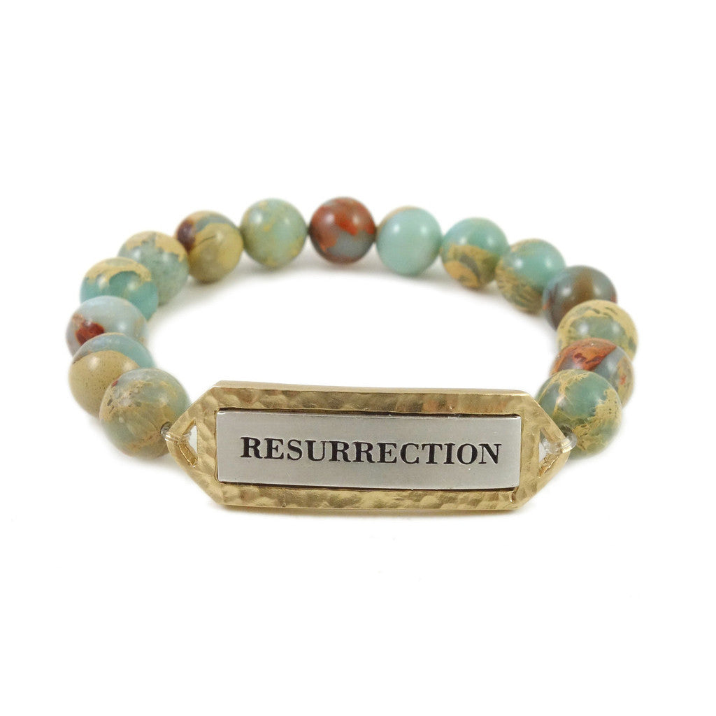 GOLD & OPAL RESURRECTION STRETCH BRACELET
