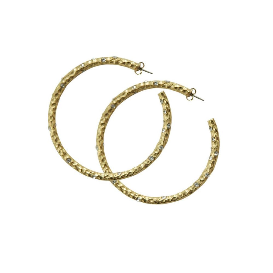 "2.5"" GOLD PAVIA HOOP WITH CRYSTALS"