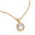 GOLD PAVIA COIN & FRAME NECKLACE