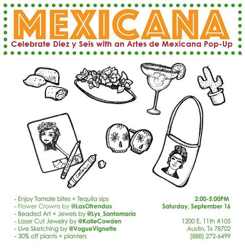 Mexicana: A Local Mexicana Artist Pop Party + Plant Sale
