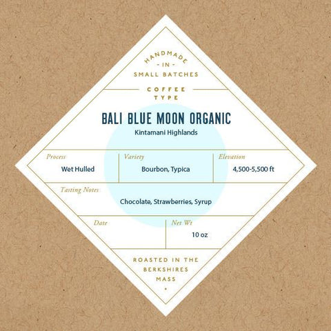 No. Six Depot - Bali Blue Moon Organic Whole Bean Coffee 10oz