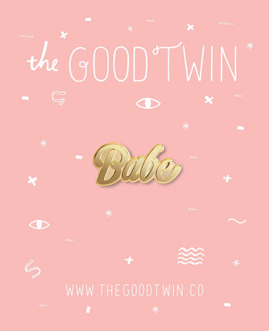 The Good Twin - Babe Pin + Post Card