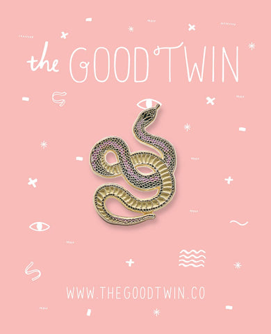 The Good Twin - Snake Pin + Post Card
