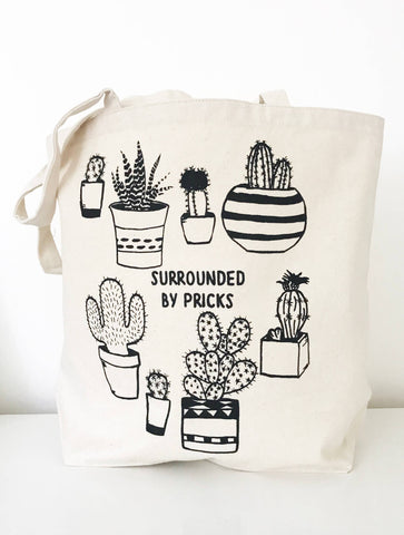 The Coin Laundry - Surrounded by Pricks Farmers Market Tote