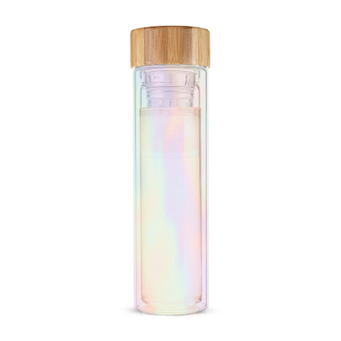 Blair Iridescent Glass Travel Infuser Mug
