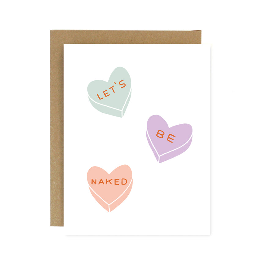 Let's Be Naked Hearts Card