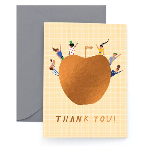 Thank you! An Apple a Day - Foil Greeting Card