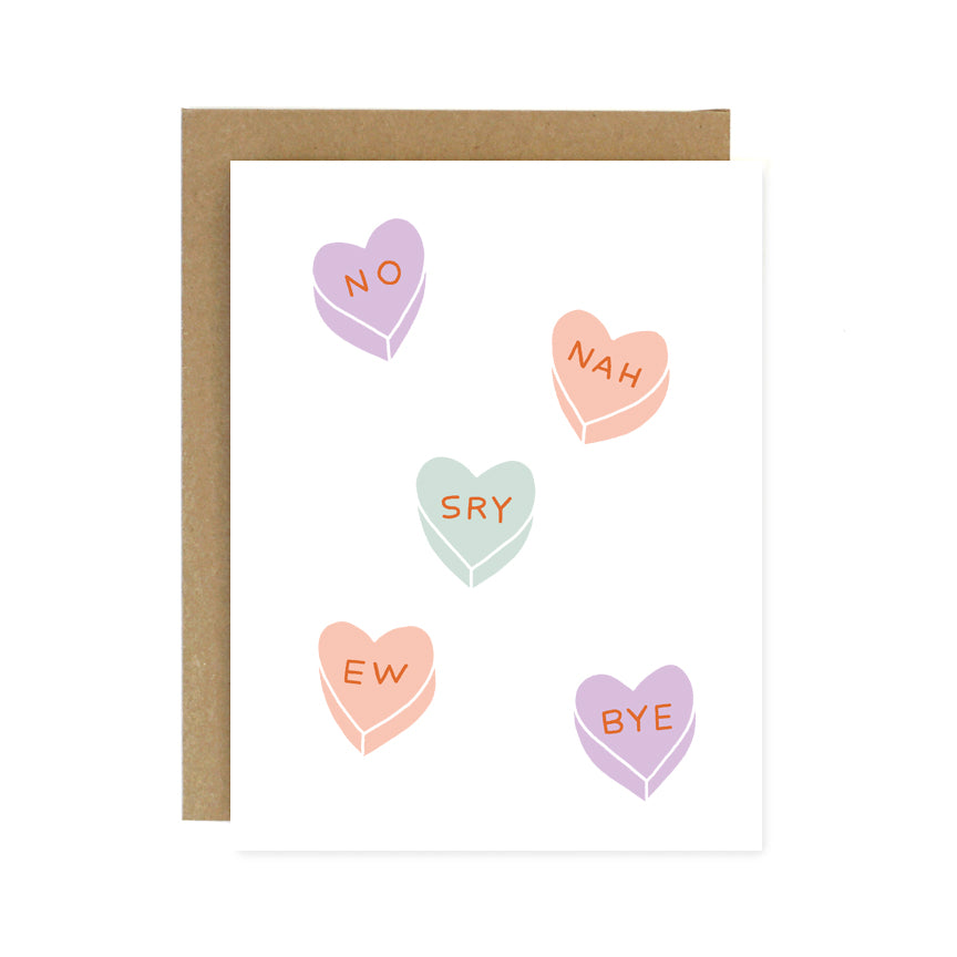Rejection Hearts Card