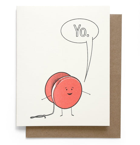 Smarty Pants Paper - Yo Greeting Card