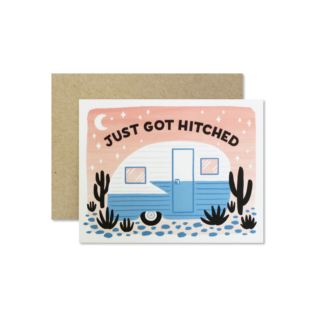 Wild Hart Paper - Just Got Hitched Card