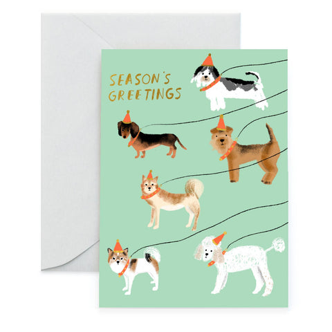 Out for a Winter Walk - Foil Holiday Card