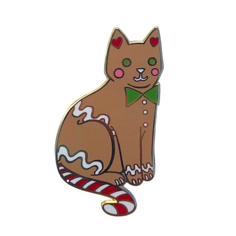 Danielle V Designs - Gingerbread Cat Enamel Pin