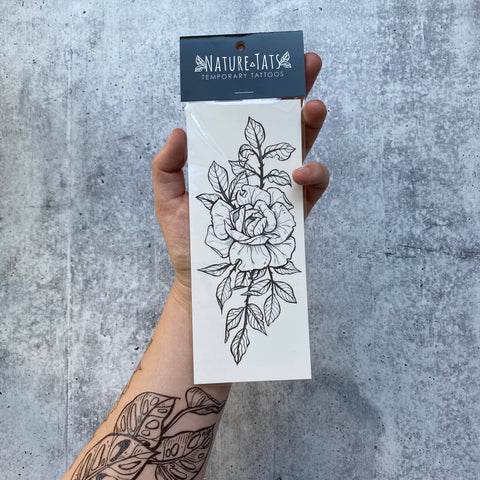 NatureTats - Rose Blossom Temporary Tattoo