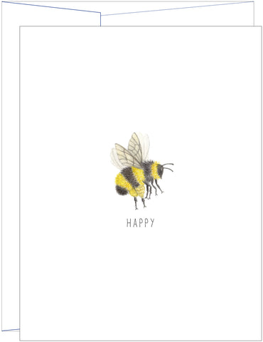 Potting Shed Creations - Bee Happy Greeting Card