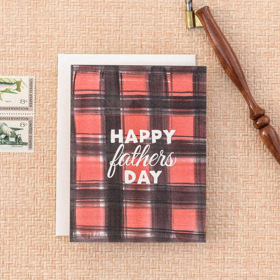 Buffalo Plaid Fathers Day Greeting card