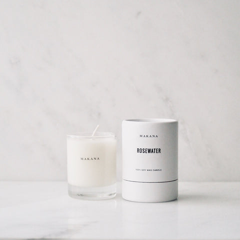 Rosewater - Petite Candle 3 oz