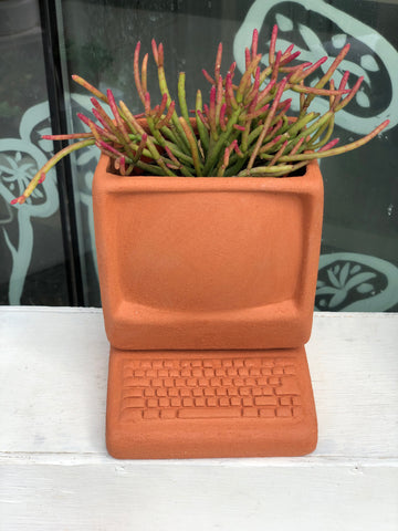 Computer Planter (with plant of choice)