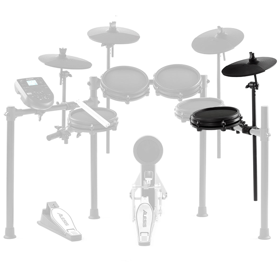 Alesis Nitro Drum Expansion Pack w/ Mesh Tom & Cymbal