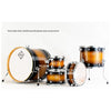 Dixon Fuse Maple 522 Series Drum Kit 5-Piece Brown Burst Gloss w/ 9278 Hardware - PODFM522BBPK