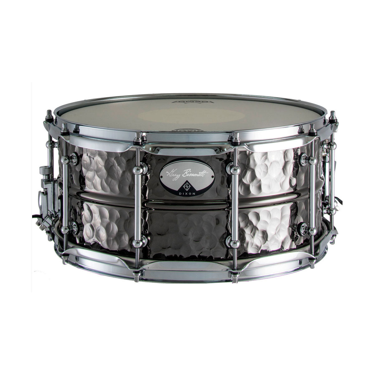 Dixon Gregg Bissonette Signature Snare Drum Hammered Brass Black Nickel - 14x6.5inch - PDSAN654GBB