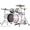 Dixon Jet Set Plus Series Drum Kit 5-Piece Sub Zero White w/ Hardware & Bags - PODJ516PKSZWWB
