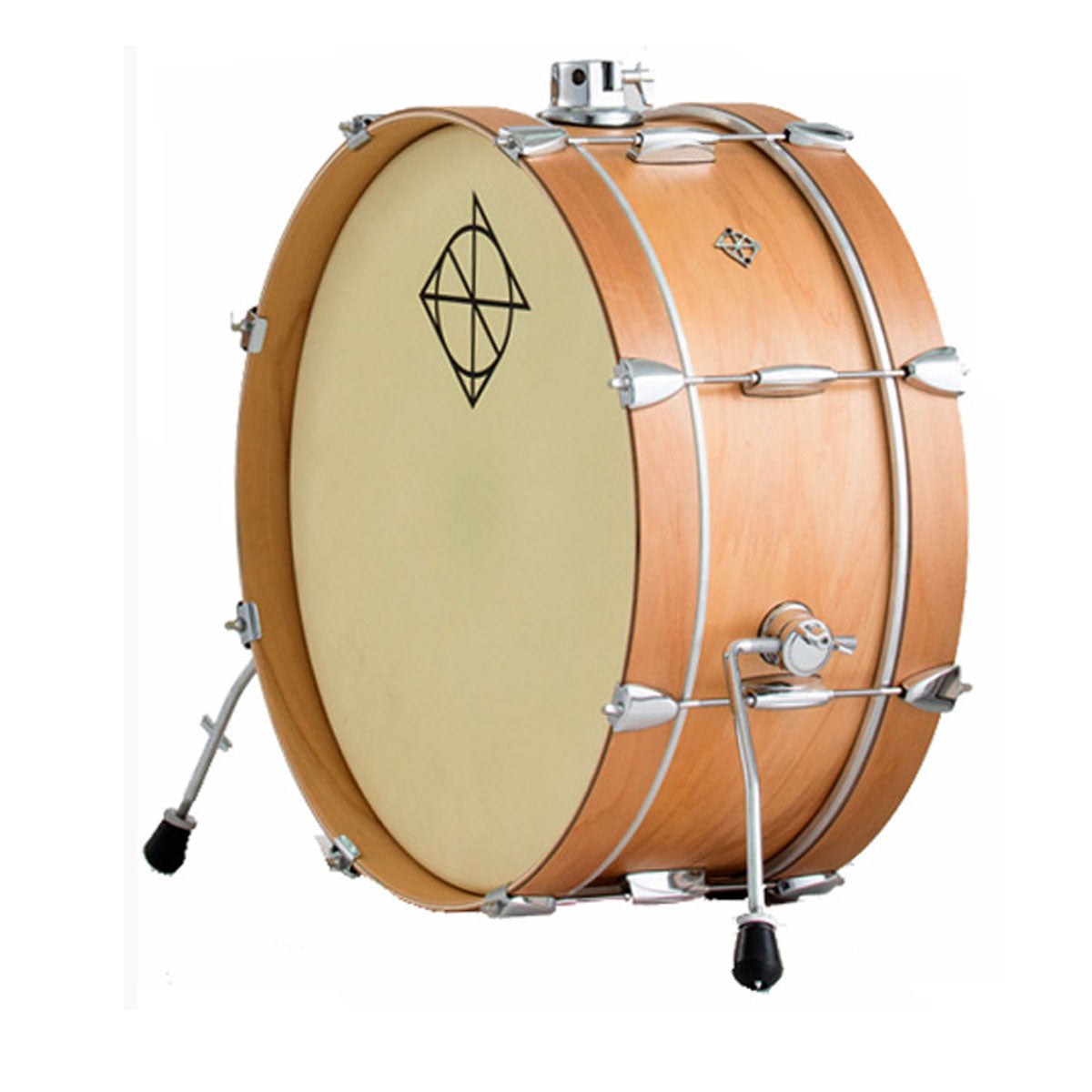 Dixon Little Roomer Series Bass Drum Satin Natural Lacquer Finish - 7x20inch - PDZL0720SN