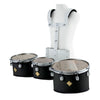 Dixon Marching Tenor Drum Trio Set Black w/ Carrier - PMTCL3BK