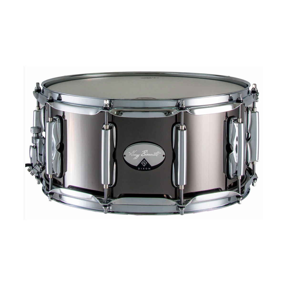 Dixon Gregg Bissonette Signature Snare Drum Steel Black Nickel - 14x6.5inch - PDSAN654GBS