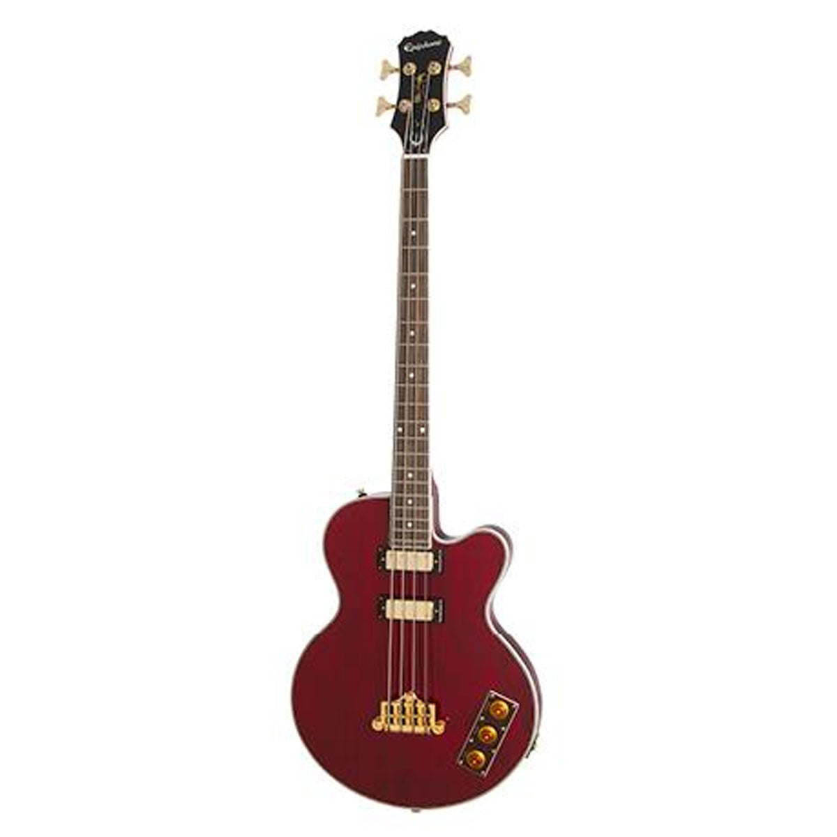 Epiphone Allen Woody Signature Bass Guitar Limited Limited Edition Rumblekat Wine Red - EBAKWRGH1