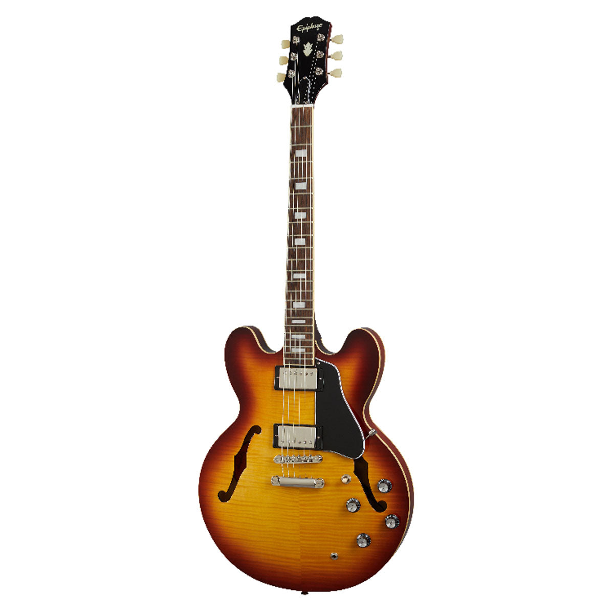 Epiphone ES-335 Figured Electric Guitar Semi-Hollow Raspberry Tea Burst - EIES335FRTBNH1